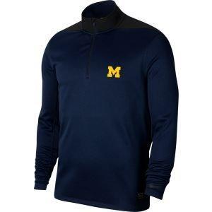 Nike University Of Michigan Wolverines Dri-Fit Golf Pullover