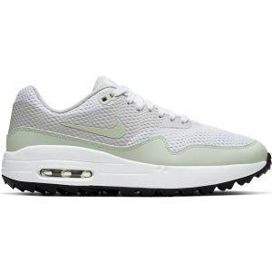 Nike Womens Air Max 1 G Golf Shoes 2020 - White/Grey/Black/Jade Aura