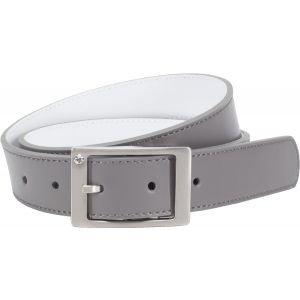 Nike Womens Rhinestone Reversible Belt Grey/White