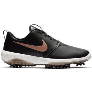 Nike Womens Roshe G Tour Golf Shoes Black/Summit White/Metallic Red Bronze