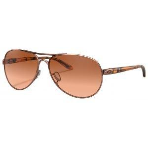 Oakley Feedback Rose Gold Sunglasses Vr50 Brown Gradient Lens