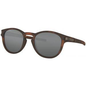 Oakley Latch Matte Brown Tortoise Sunglasses - Prizm Black Lens