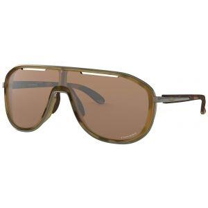 Oakley Outpace Matte Brown Tortoise Sunglasses - Prizm Tungsten Lens