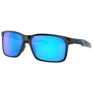 Oakley Portal X Polished Black Sunglasses Prizm Sapphire