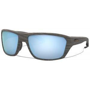 Oakley Split Shot Woodgrain Sunglasses Prizm Deep Water Polarized