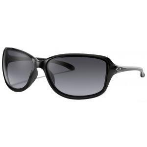 Oakley Ladies Cohort Polished Black Sunglasses Grey Gradient Polarized Lens