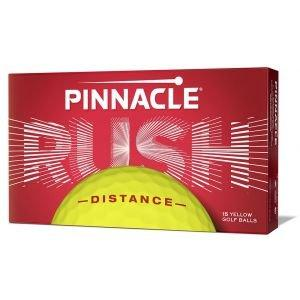 Pinnacle Rush Distance Yellow Golf Balls 15-Pack