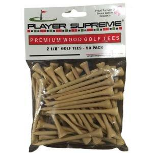 "Player Supreme Natural Golf Tees 2 1/8"" 50 Pack"