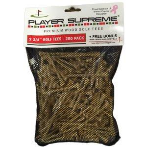 "Player Supreme Natural Golf Tees 2 3/4"" 200 Pack"