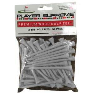 "Player Supreme White Golf Tees 2 1/8"" 50 Pack"