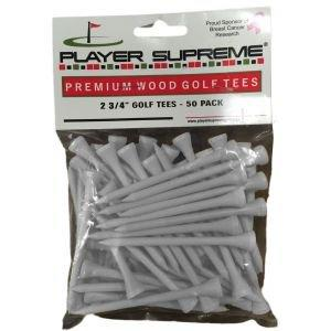 "Player Supreme White Golf Tees 2 3/4"" 50 Pack"