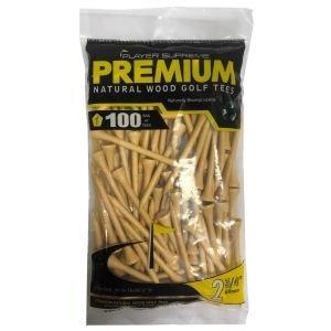 "Player Supreme Natural Golf Tees 2 3/4"" 100 Pack"