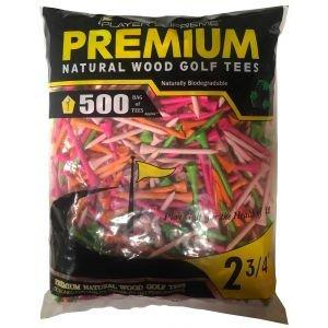 "Player Supreme Neon Golf Tees 2 3/4"" 500 Pack"