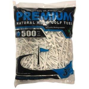 """Player Supreme White Golf Tees 3 1/4"""" 500 Pack"""