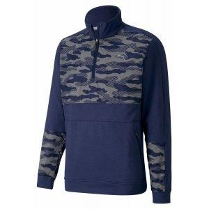 Puma Cloudspun Camo 1/4 Zip Golf Pullover