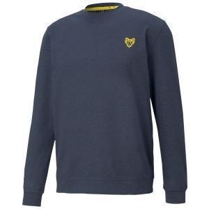 Puma CLOUDSPUN Golden Crewneck Golf Sweater - 02 NVY BLZR/ROA - XXL