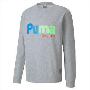 Puma Express Crewneck Long Sleeve Golf Shirt