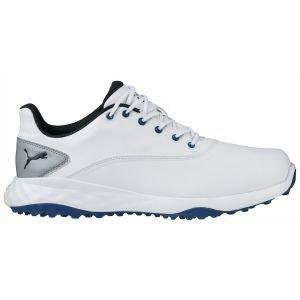Puma Grip Fusion Golf Shoes White/Black/Blue - ON SALE