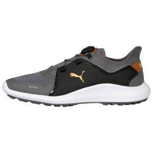 Puma IGNITE Fasten8 DISC Golf Shoes Quiet Shade/Gold/Puma Black