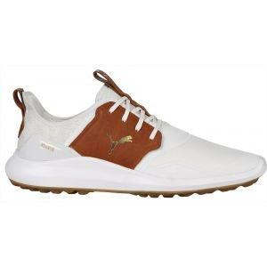 Puma IGNITE NXT Crafted Golf Shoes White/Leather Brown/Team Gold 2020