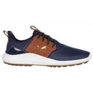 Puma Ignite NXT Crafted Golf Shoes 2020 - Peacoat/Leather Brown/Team Gold