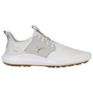 Puma IGNITE NXT Crafted Golf Shoes White/High Rise/Team Gold 2020