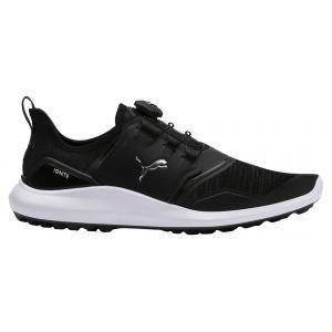 Puma IGNITE NXT DISC Golf Shoes Black/Silver/White