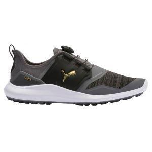 Puma Ignite NXT Disc Golf Shoes Quiet Shade/Team Gold/Black