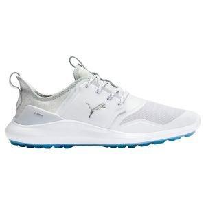 Puma Ignite NXT Lace Golf Shoes 2020 - White/Silver/High Rise