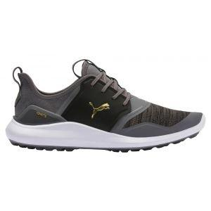 Puma Ignite NXT Lace Golf Shoes Quiet Shade/Team Gold/Black