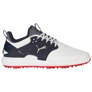 Puma Ignite PwrAdapt Caged Golf Shoes White/Silver/Peacoat 2020