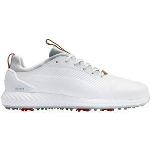 Puma Ignite PwrAdapt Leather 2.0 Golf Shoes White/White 2020