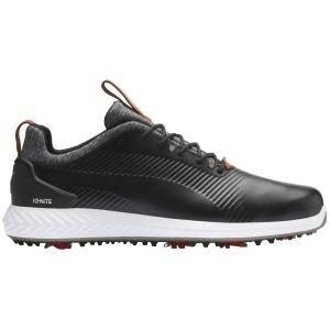 Puma Ignite PWRAdapt Leather 2.0 Golf Shoes 2020 - Black/Black