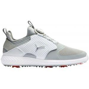 Puma Ignite PwrAdapt Caged Disc Golf Shoes Gray Violet/Silver/White 2020
