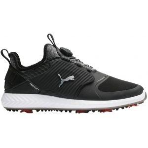 Puma Ignite PwrAdapt Caged Disc Golf Shoes Black/Silver/Black 2020