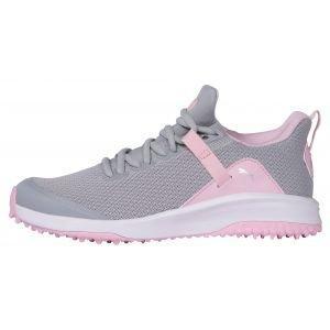 PUMA Junior Girls Grip Fusion Evo Golf Shoes High Rise/Pink Lady