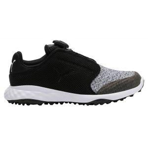 Puma Junior Grip Fusion Sport DISC Golf Shoes Black/Quarry