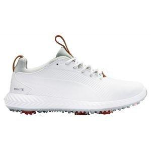 Puma Junior Ignite PWRAdapt 2.0 Golf Shoes - White/White