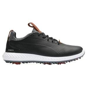 Puma Junior Ignite PWRAdapt 2.0 Golf Shoes Black/Black