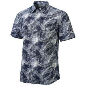 Puma Palms Button Down Golf Polo Shirt - 02 NAVY BLAZER - XXL