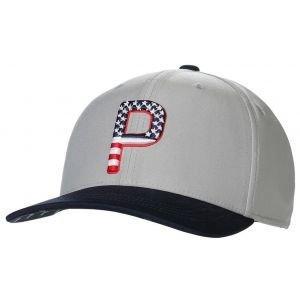 PUMA Pars and Stripes P Snapback Golf Hat 022967