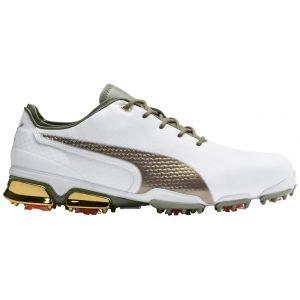 Puma Ignite ProAdapt X Collection Golf Shoes White/Gold 2020