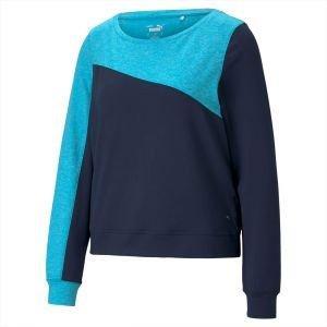 Puma Women's Cloudspun Colorblock Golf Crew Sweater