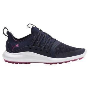 Puma Womens Ignite NXT Solelace Golf Shoes Peacoat/Metallic Pink