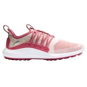 Puma Womens Ignite NXT Solelace Golf Shoes 2020 - Rapture Rose/Silver