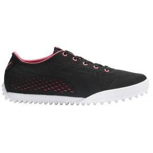 Puma Womens Monolite Cat EM Golf Shoes Black/Rapture Rose 2020