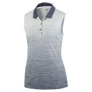 Puma Womens Ombre Sleeveless Golf Polo Shirt On Sale