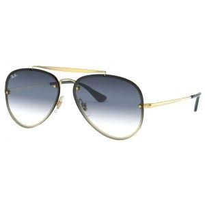 Ray-Ban Blaze Aviator Golf Sunglasses - Blue Gradient Mirror Lens