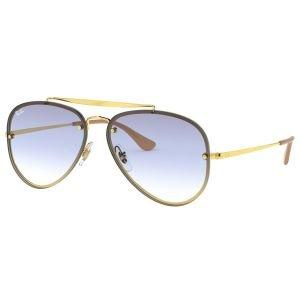 Ray-ban Blaze Aviator Gold Sunglasses - Light Blue Gradient Lens