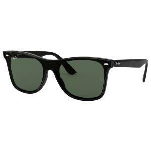 Ray-Ban Blaze Wayfarer Black Sunglasses - Green Classic Lens
